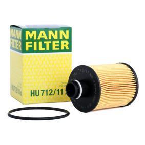 HU 712/11 x MANN-FILTER med packningar Ø: 64mm, H: 105mm Oljefilter HU 712/11 x köp lågt pris