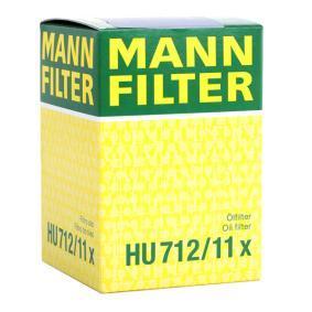 HU712/11x Oljefilter MANN-FILTER - Upplev rabatterade priser