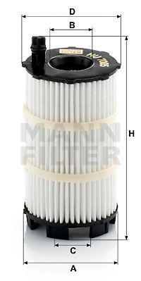 Alyvos filtras HU 7005 x su puikiu MANN-FILTER kainos/kokybės santykiu