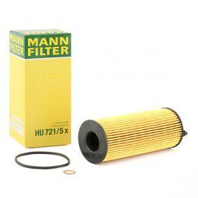 HU 721/5 x MANN-FILTER mit Dichtungen Innendurchmesser: 26mm, Ø: 64mm, Höhe: 172mm Ölfilter HU 721/5 x günstig kaufen