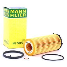 HU 720/3 x MANN-FILTER mit Dichtungen Innendurchmesser: 28mm, Innendurchmesser 2: 31mm, Ø: 63mm, Höhe: 155mm Ölfilter HU 720/3 x günstig kaufen