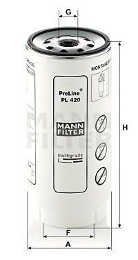 PL 420 x MANN-FILTER Filtr paliwa do DAF XF 105 - kup teraz