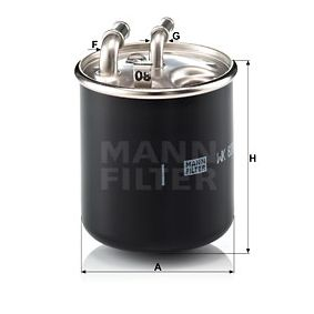 WK 820/2 x Kraftstofffilter MANN-FILTER Test