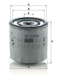 W 712/95 Filtro olio MANN-FILTER Test