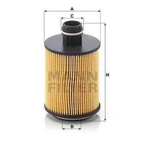 HU 7004/1 x Oil Filter MANN-FILTER - Cheap brand products