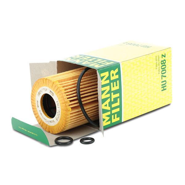 HU 7008 z Alyvos filtras MANN-FILTER originalios kokybiškos