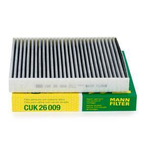 CUK 26 009 MANN-FILTER aktivtkolfilter B: 235mm, H: 32mm, L: 254mm Filter, kupéventilation CUK 26 009 köp lågt pris