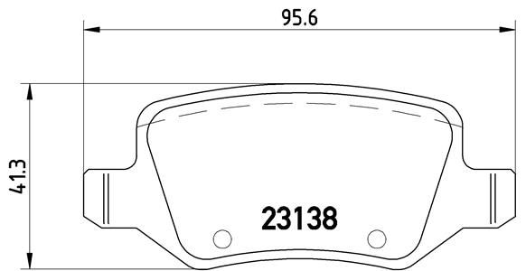 MERCEDES-BENZ B-Klasse 2016 Bremsbeläge - Original BREMBO P 50 090 Höhe: 41,3mm, Breite: 95,6mm, Dicke/Stärke: 14,6mm
