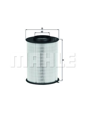 MAHLE ORIGINAL | Luftfilter LX 1780/3