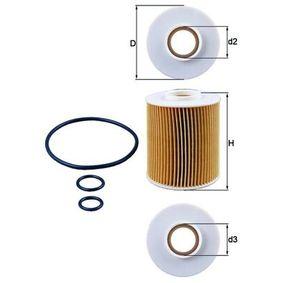 OX 163/4D Ölfilter MAHLE ORIGINAL - Markenprodukte billig