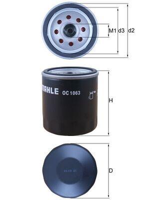 OC 1063 Oljefilter MAHLE ORIGINAL Test