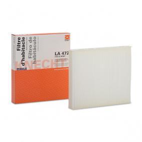 LAO472 MAHLE ORIGINAL Partikelfilter B: 204,5mm, H: 35,0mm Filter, kupéventilation LA 472 köp lågt pris