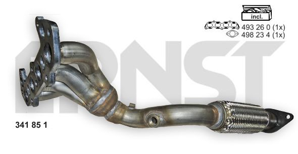 Ford FOCUS 2015 Exhaust header ERNST 341851: with exhaust pipe gasket, with exhaust manifold gasket(s), Set