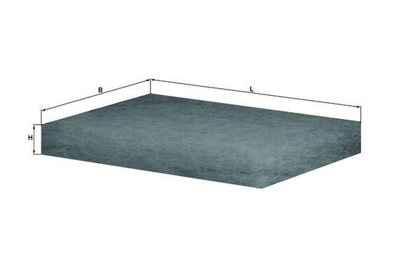 MAHLE ORIGINAL Filter, Innenraumluft für SCANIA - Artikelnummer: LAP 12