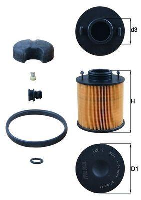 MAHLE ORIGINAL Urea Filter for NISSAN - item number: UX 1D