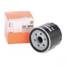 70559238 MAHLE ORIGINAL Anschraubfilter Innendurchmesser 2: 62,0mm, Ø: 76,0mm, Höhe: 73,5mm Ölfilter OC 1051 günstig kaufen