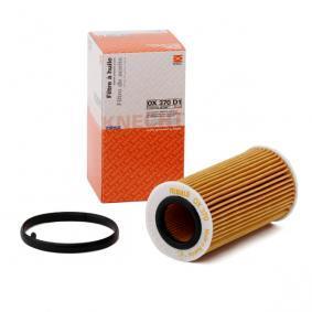 Pirkti 79928889 MAHLE ORIGINAL filtro įdėklas vidinis skersmuo 2: 31,5mm, Ø: 63,5mm, aukštis: 125,0mm, aukštis 1: 121,1mm Alyvos filtras OX 370D1 nebrangu
