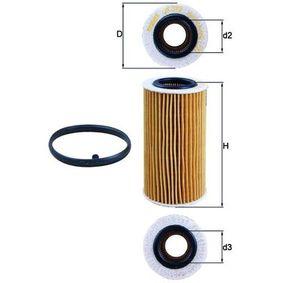 OX 370D1 Alyvos filtras MAHLE ORIGINAL Test