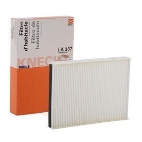 LAO387 MAHLE ORIGINAL Partikelfilter Breite: 193,0mm, Höhe: 30,0mm Filter, Innenraumluft LA 387 günstig kaufen