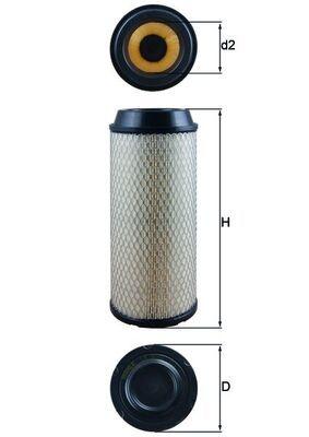 Luftfilter MAHLE ORIGINAL LX 3008 mit 16% Rabatt kaufen