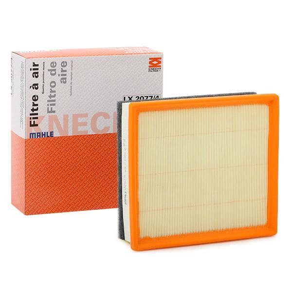Zracni filter LX 2077/4 z izjemnim razmerjem med MAHLE ORIGINAL ceno in zmogljivostjo