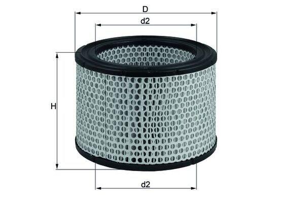 MAHLE ORIGINAL Filtr powietrza do FUSO (MITSUBISHI) - numer produktu: LX 248
