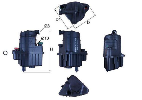 MAHLE ORIGINAL Kraftstofffilter KL 832D