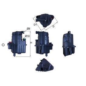 70560436 MAHLE ORIGINAL Leitungsfilter Höhe: 188,0mm Kraftstofffilter KL 832D günstig kaufen
