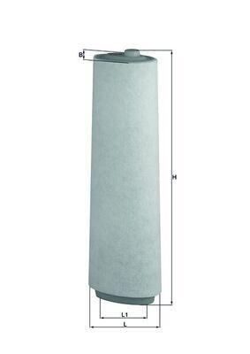 Origine Filtre à air MAHLE ORIGINAL LX 818 (Longueur coque: 147,8mm, Longueur: 109,0mm, Largeur: 90, 90,0mm, Hauteur: 498mm)