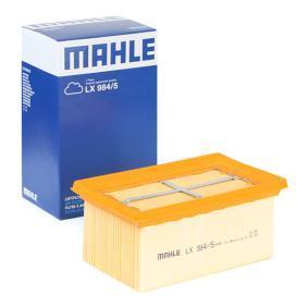 Achat de Moto MAHLE ORIGINAL Cartouche filtrante Longueur coque: 93,3mm, Largeur: 153,3mm, Hauteur: 67,3mm Filtre à air LX 984/5 pas chères