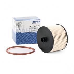 KX201DECO MAHLE ORIGINAL Filtereinsatz Höhe: 75,3mm Kraftstofffilter KX 201D günstig kaufen