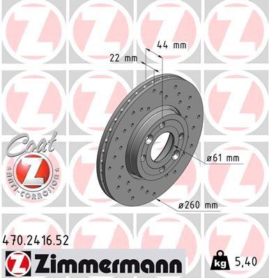 ZIMMERMANN Bremsscheibe 470.2416.52