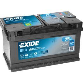 EL752 Batterie EXIDE EL752110EFB - Große Auswahl - stark reduziert
