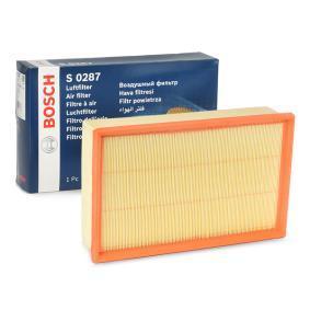 S0287 BOSCH Filterinsats L: 292mm, B: 176,5mm, H: 60mm Luftfilter F 026 400 287 köp lågt pris