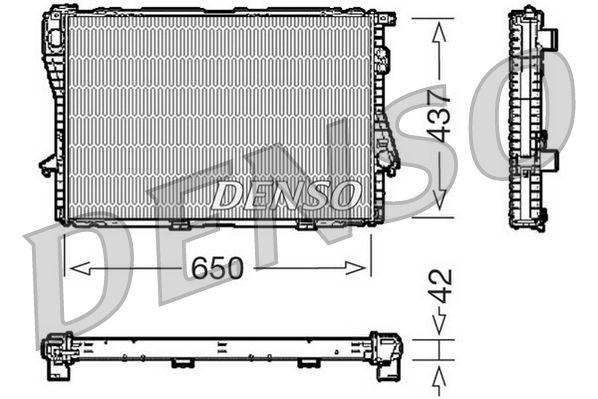 DRM05068 DENSO Aluminium Kühler, Motorkühlung DRM05068 günstig kaufen