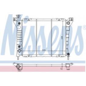 62109 NISSENS Kupfer, Kunststoff, Schalt-/optional Automatikgetriebe Netzmaße: 572 x 448 x 21 mm Kühler, Motorkühlung 62109 günstig kaufen