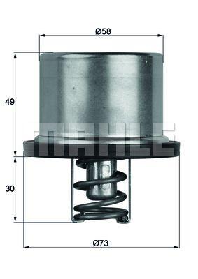 Termostat, środek chłodzący BEHR THERMOT-TRONIK TX 37 79 Recenzji