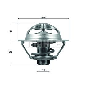 BEHR Thermoschalter Temperaturschalter Kühlerlüfter TSW 44D M14x1.5 1-polig