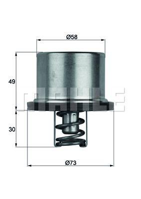 70808707 BEHR THERMOT-TRONIK Öffnungstemperatur: 71°C, mit Dichtung Thermostat, Kühlmittel TX 11 71D günstig kaufen