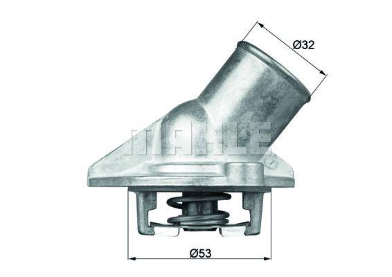 TI 15 87 Thermostat, coolant BEHR THERMOT-TRONIK original quality