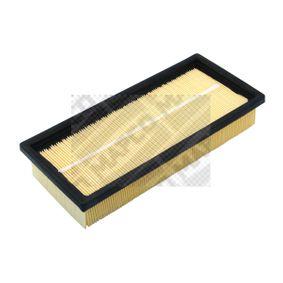 60014 MAPCO Filtereinsatz Länge: 281mm, Breite: 123mm, Höhe: 49mm Luftfilter 60014 günstig kaufen