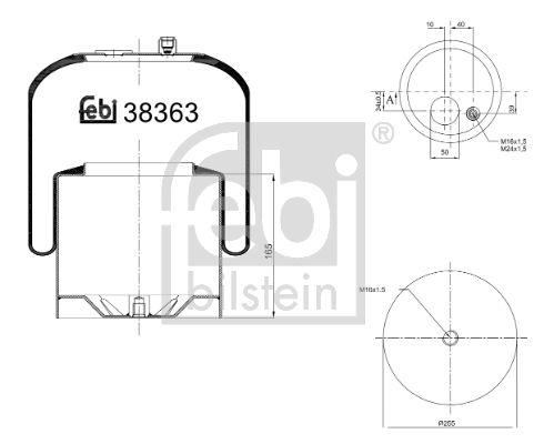 Original MERCEDES-BENZ Federbalg, Luftfederung 38363