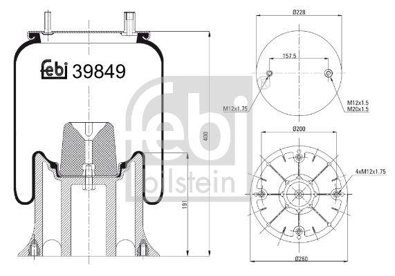 FEBI BILSTEIN: Original Luftfederbein 39849 ()