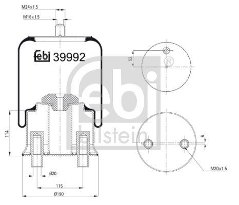 Federbalg, Luftfederung FEBI BILSTEIN 39992