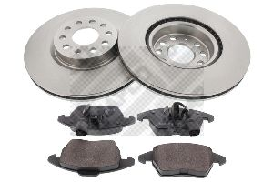 Buy Brake discs and pads set MAPCO 47833 Brake Disc Thickness: 25mm