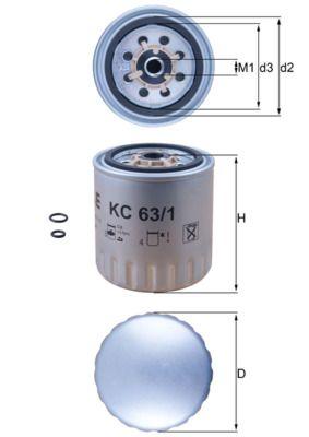 Buy KNECHT Fuel filter KC 63/1D truck