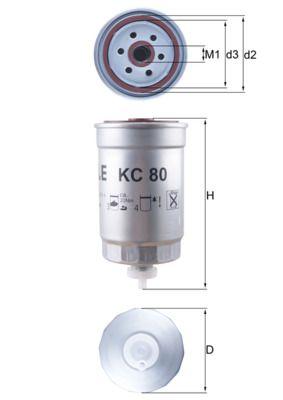 Alpine A110 KNECHT Filtro carburante KC 80
