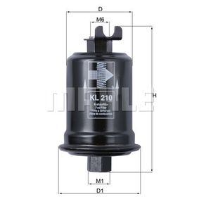 Moto KNECHT In-Line Filter Height: 94,0mm, Housing Diameter: 49,6mm Fuel filter KL 145 cheap
