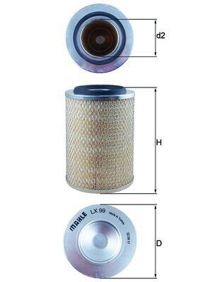 LX 99 KNECHT Luftfilter billiger online kaufen
