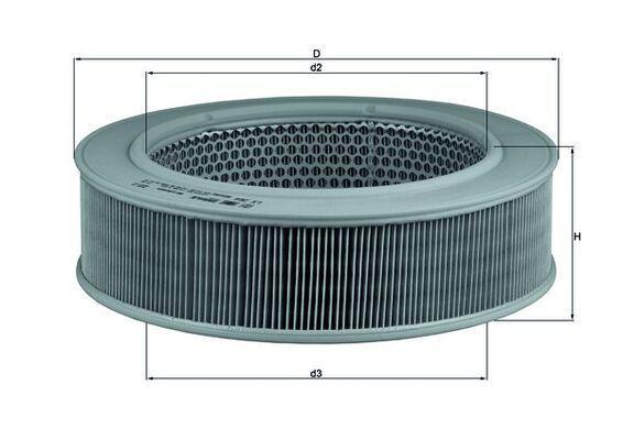 LX 264 KNECHT Luftfilter billiger online kaufen